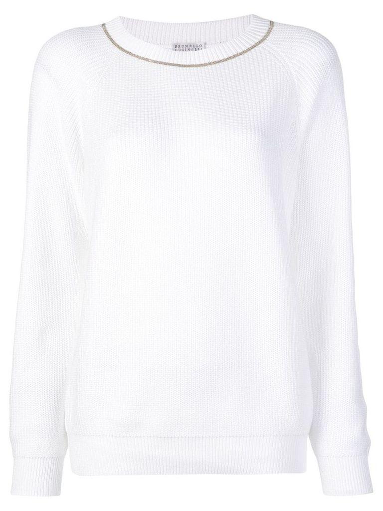Brunello Cucinelli longsleeved sweater - White