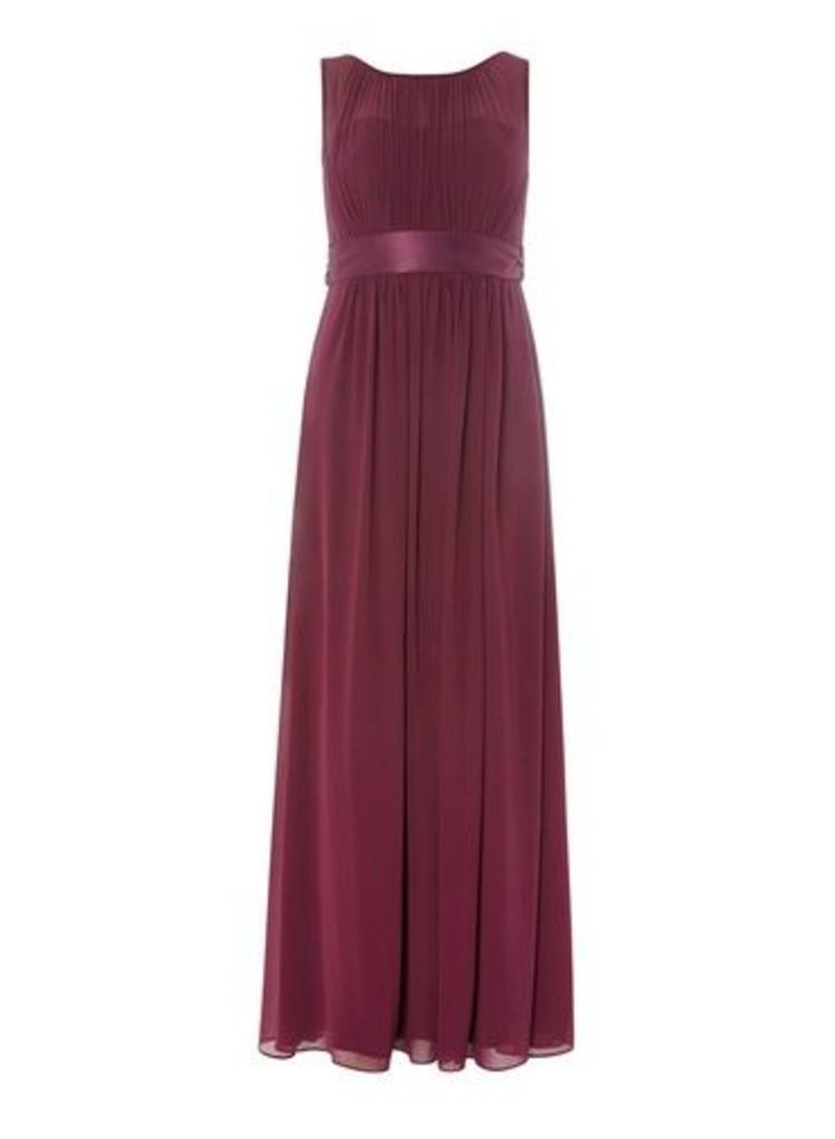 Womens **Showcase Petite Mulberry Maxi Dress- Red, Red