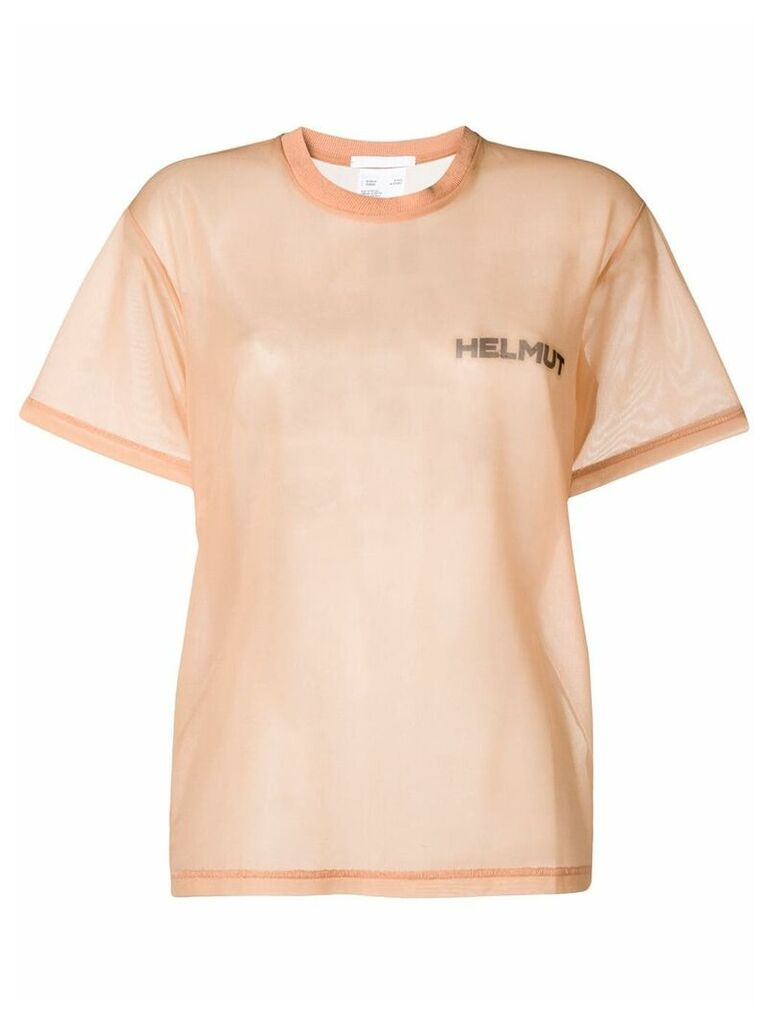 Helmut Lang In Lang With Trust sheer T-shirt - Neutrals