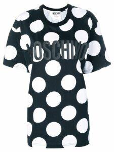 Moschino polka dot logo T-shirt - Black