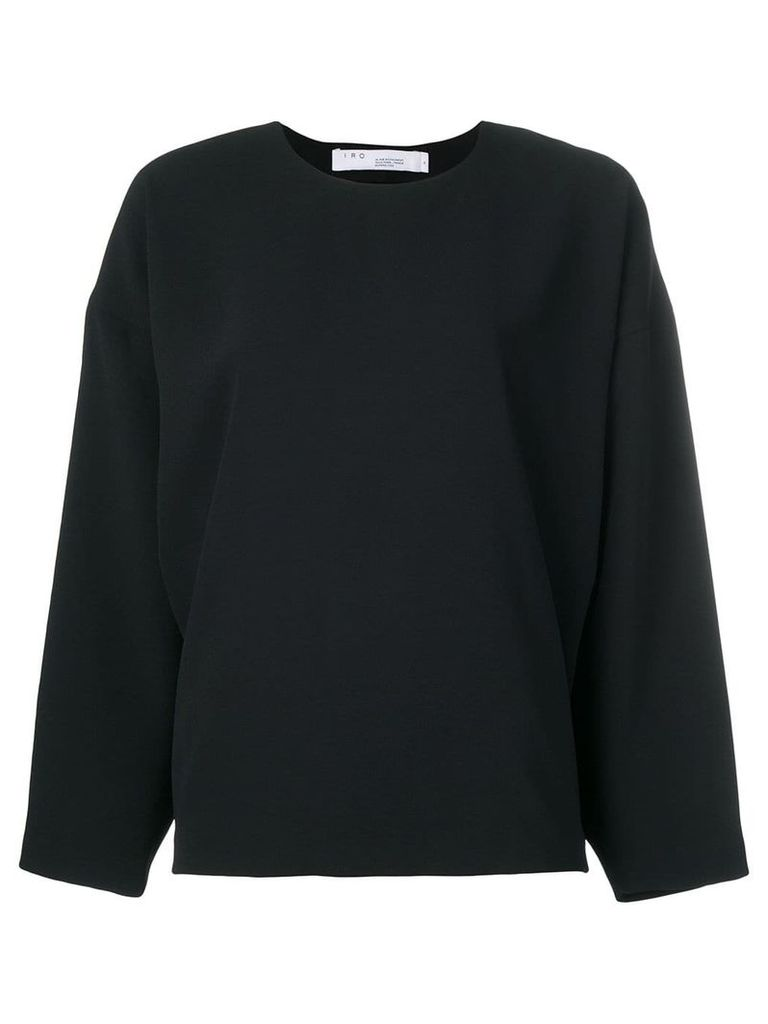 Iro Lithe long sleeve top - Black