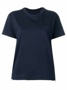 Sacai pleated side panel T-shirt - Blue