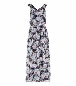 Mela Blue Floral Paisley Print Maxi Dress New Look