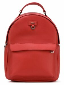 Furla logo plaque backpack - Red
