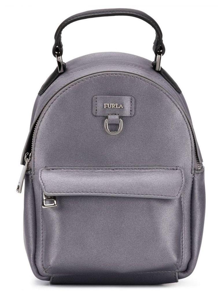 Furla logo plaque backpack - Grey