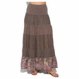 100 % Lin  Skirt  women's Skirt in Beige