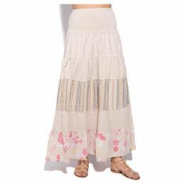 100 % Lin  Skirt  women's Skirt in Beige
