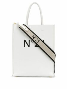 Nº21 logo shopping tote - White