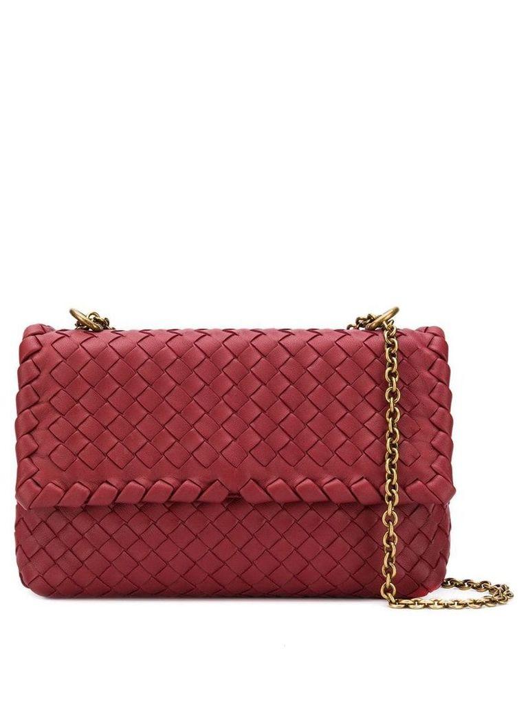 Bottega Veneta intrecciato baby Olimpia bag - Red
