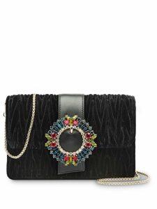 Miu Miu Matelassé velvet shoulder bag - Black