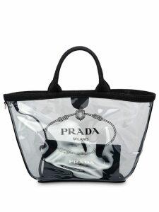 Prada sheer logo tote bag - Black