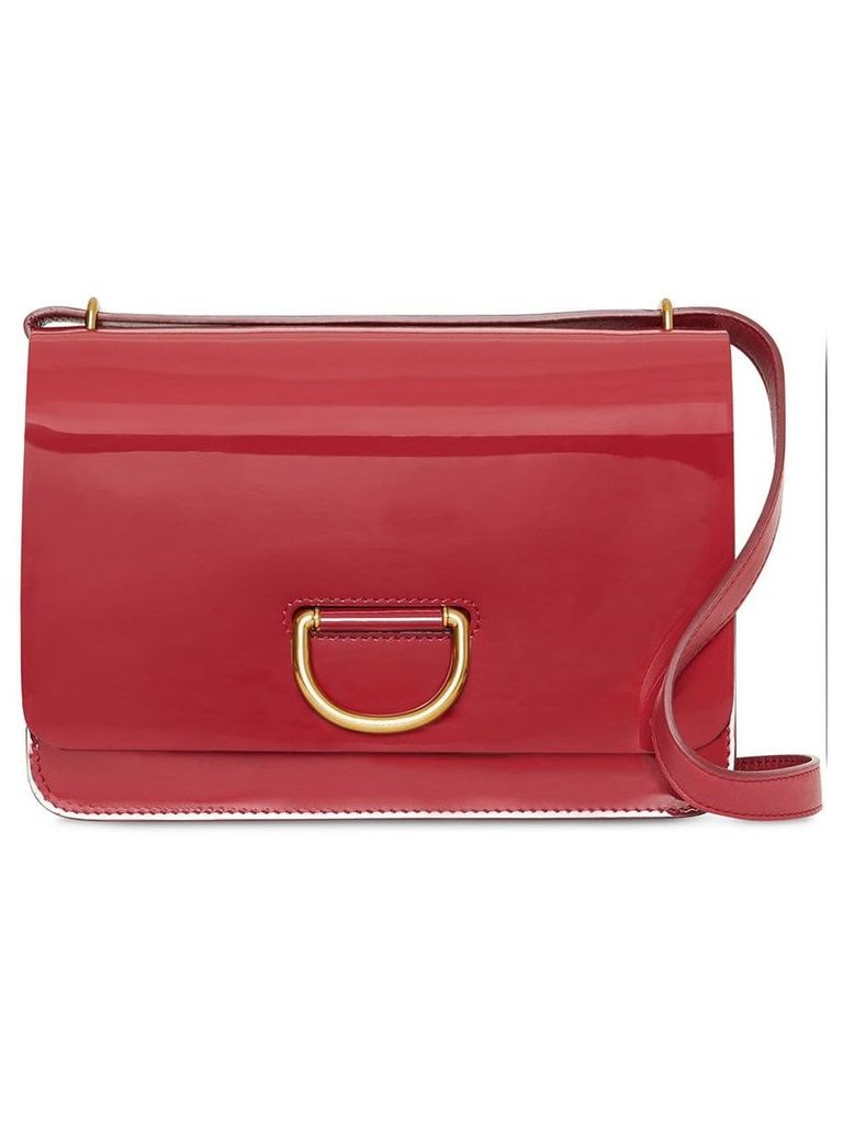 Burberry The Medium Patent Leather D-ring Bag - Red