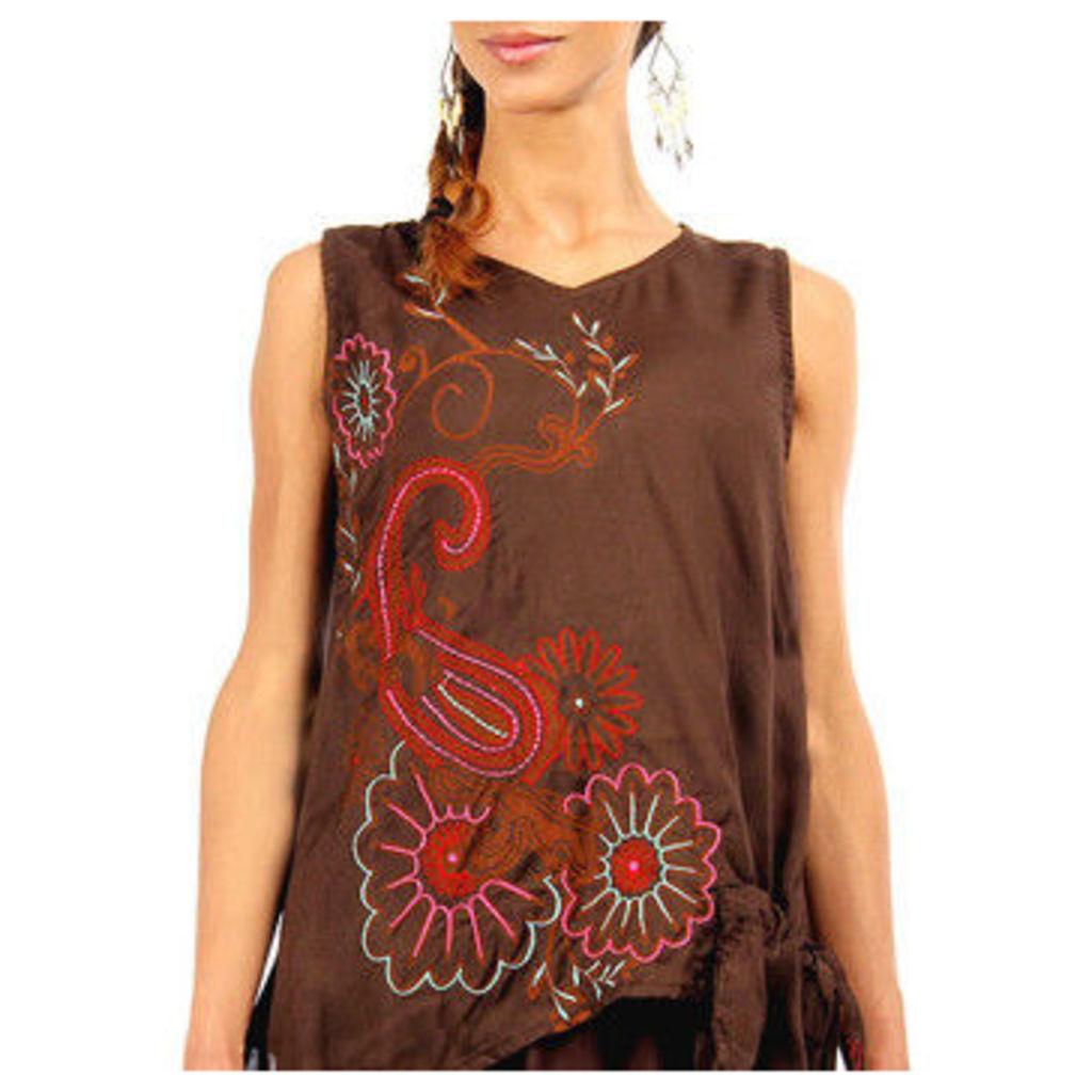 Swamee  Tunic  women's Tunic dress in Brown