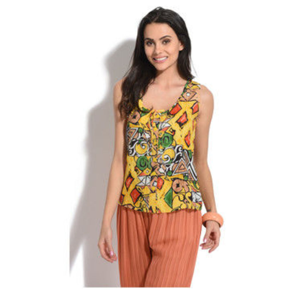 Rita York  Top  women's Blouse in Yellow