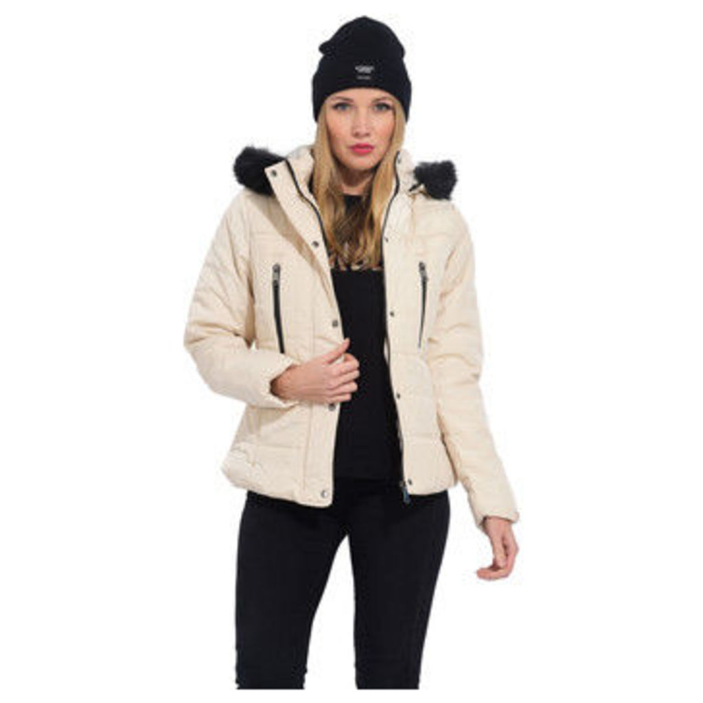 Cm  Quilted down jacket with hood  women's Jacket in Beige
