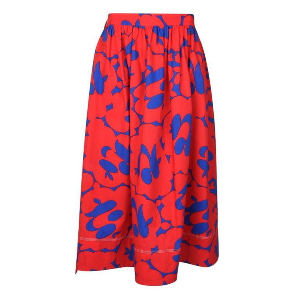 MARNI Floral Midi Skirt