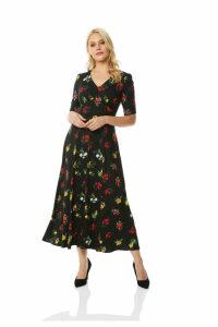 Midi Floral Tea Dress