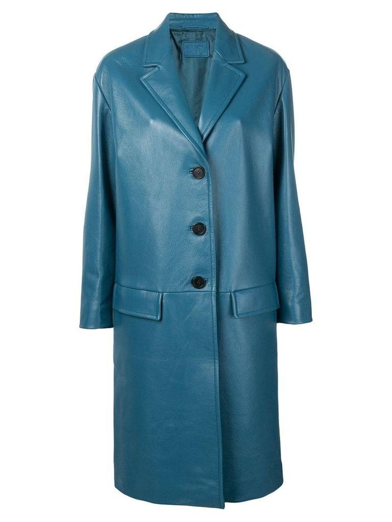 Prada single breasted coat - Blue