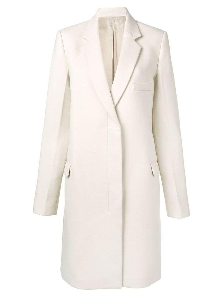 Helmut Lang long sleeved coat - Neutrals