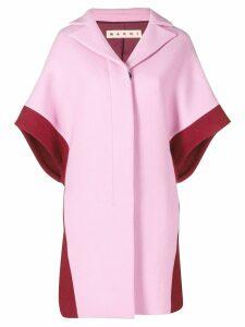 Marni contrast short-sleeve coat - Pink