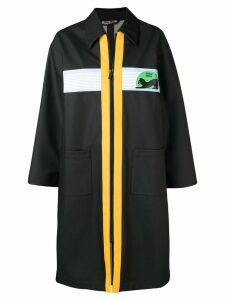 Miu Miu zipped trench coat - Black