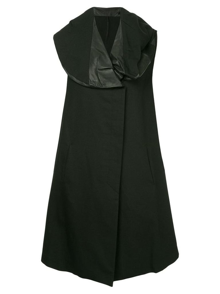 Masnada padded collar coat - Black