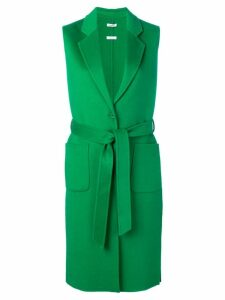 P.A.R.O.S.H. sleeveless belted coat - Green