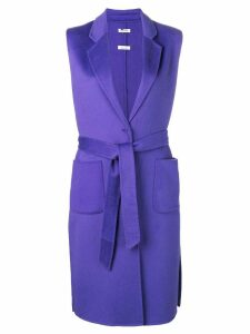 P.A.R.O.S.H. belted sleeveless coat - Purple