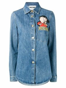 Moschino Porky Pig denim shirt - Blue