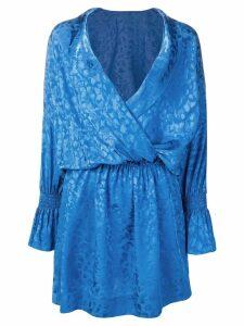 Zadig & Voltaire Riri Jac Leo Robe dress - Blue