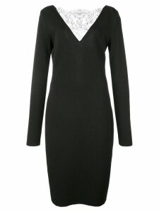 Givenchy lace detailed cocktail dress - Black