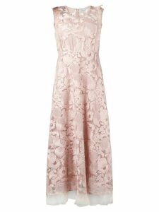 Red Valentino floral lace dress - Pink