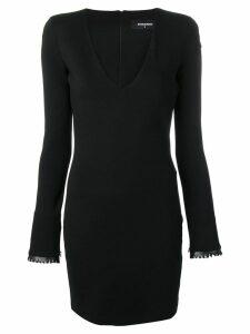 Dsquared2 plunge neck mini dress - Black