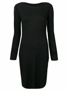 Mm6 Maison Margiela ribbed dress - Black