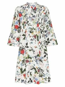 Erdem Reagan floral print pleated dress - White