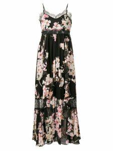 Twin-Set floral lace detailed dress - Black
