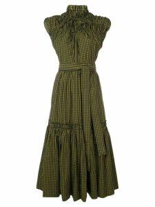 Proenza Schouler Gingham Tiered Dress - Black