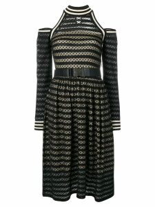 Fendi cut-out shoulder midi dress - Black