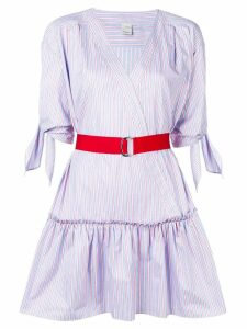 Pinko striped belted mini dress - Blue