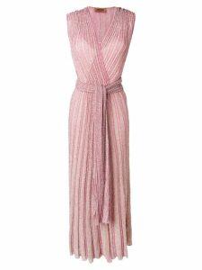 Missoni long wrap dress - Pink