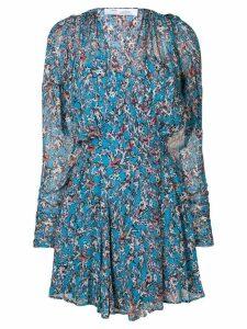 Iro v-neck patterned dress - Blue