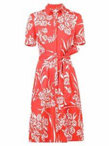 Carolina Herrera floral shirt dress - Red