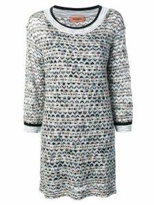 Missoni geometric patterned knitted dress - Black