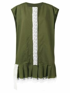 Mm6 Maison Margiela lace trim dress - Green