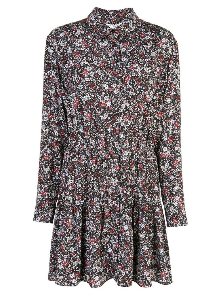 Veronica Beard floral print mini shirt dress - Blue