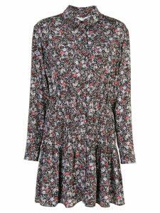 Veronica Beard floral print mini shirt dress - Blue
