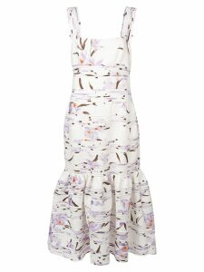 Zimmermann pleated floral dress - White