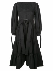 Proenza Schouler Puff Sleeve Tiered Dress - Black