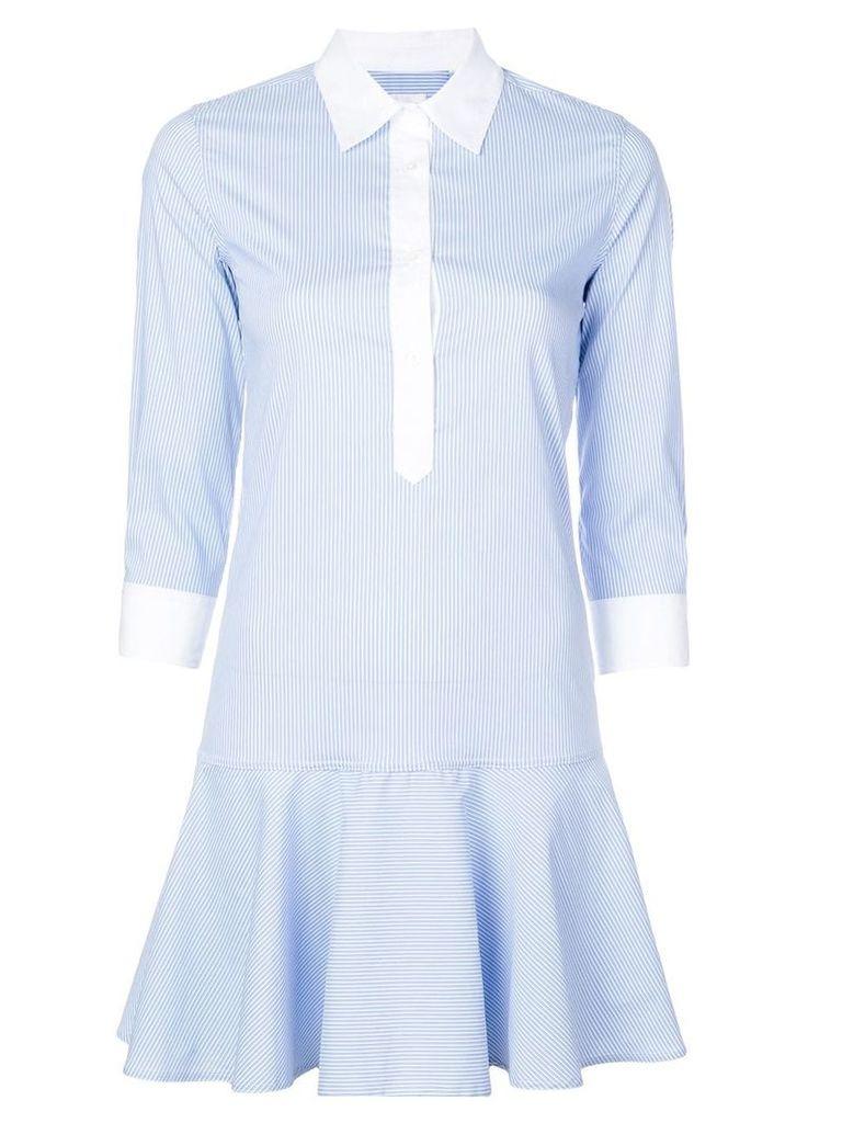 Sara Roka striped shirt dress - Blue