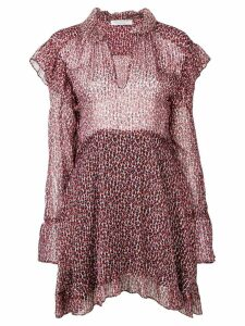 Philosophy Di Lorenzo Serafini ruffled short dress - Red